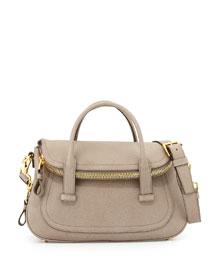 Jennifer Medium Top-Handle Bag, Taupe