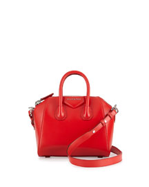 Antigona Mini Calf Leather Satchel Bag, Red