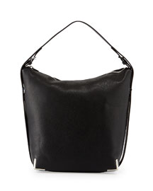 Prisma Skeleton Hobo Bag, Black