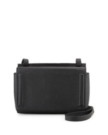 Aston Leather Mini Crossbody Bag, Black