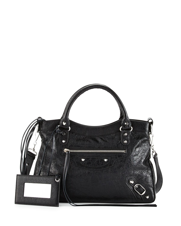 Balenciaga Classic Nickel Town Tote Bag, Black