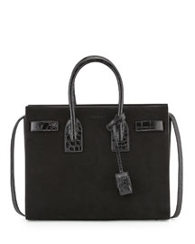 Sac De Jour Suede Small Satchel Bag