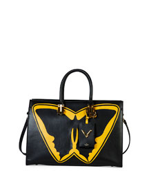 Superhero Batman Tote Bag, Black/Yellow
