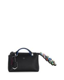 By The Way Mini Crystal-Croc-Tail Satchel Bag, Black Multi