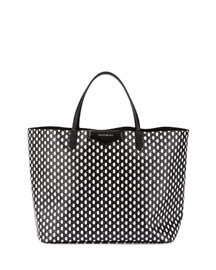 Antigona Large Diamond-Print Shopper Bag