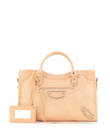 Metallic Edge Nickel City Bag, Salmon