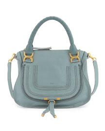 Marcie Medium Satchel Bag, Light Blue