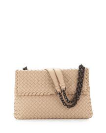 Olimpia Medium Shoulder Bag, Off White