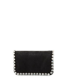 Falabella Rhinestone-Trim Crossbody Bag, Black