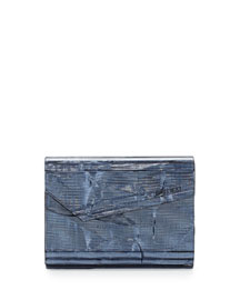 Candy Resin Crinkle Clutch Bag, Denim