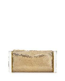 Lara Mesh Ice Clutch Bag, Gold