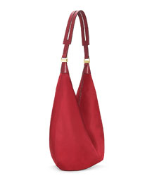 Sling 15 Nylon Hobo Bag, Beet