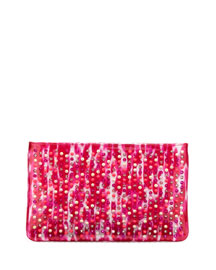 Loubiposh Glitter Clutch Bag, Pink Multi