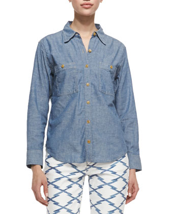 Waller Denim Button-Down Shirt