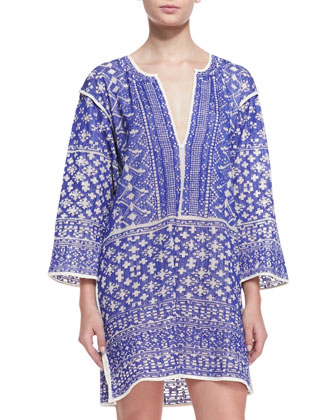 Bloom Printed Split-Hem Tunic