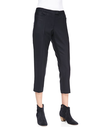 Mika Cropped Crepe Pants
