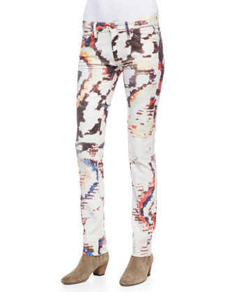 Reilly Printed Slim-Leg Jeans