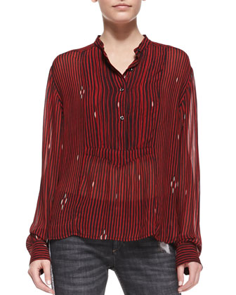 Charley Printed Voile Blouse