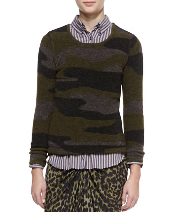 Vetra Camo-Print Sweater