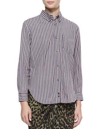 Will Striped Button-Down Shirt