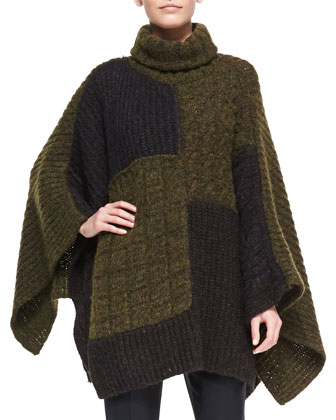 Raquel Patchwork Cape Sweater
