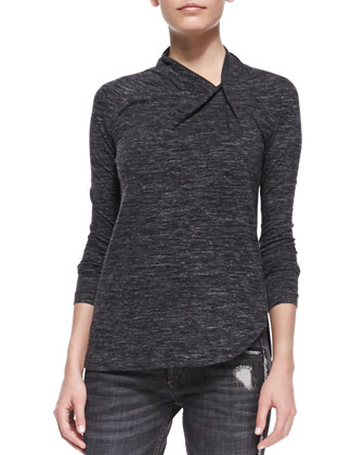 Maree Asymmetric-Neck Shirt