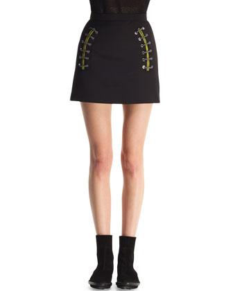 Shoelace-Detail Miniskirt