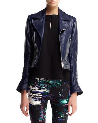 Updated Plonge Leather Biker Jacket