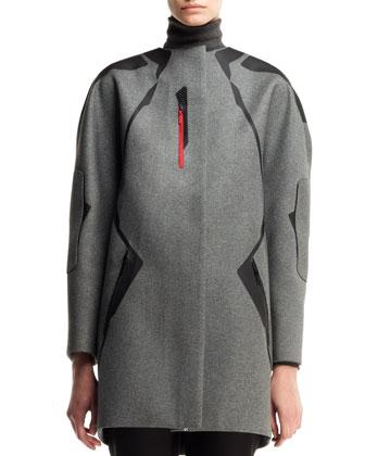Gabardine-Patch Technical Coat