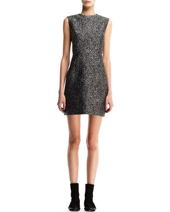 Astrakhan-Jacquard Sheath Dress