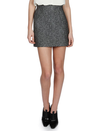 Jacquard Mini Pencil Skirt
