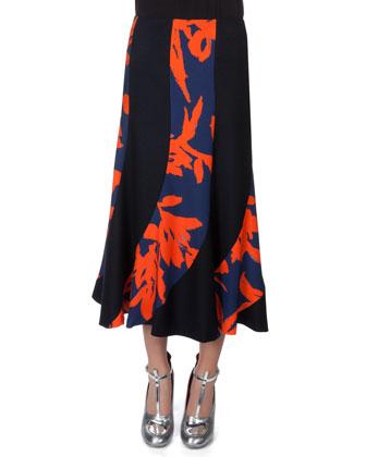 Spiral-Seamed Combo Skirt