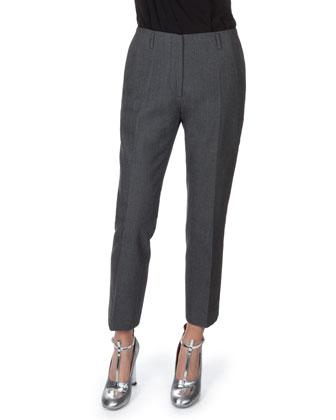 Slim Zip-Front Pants