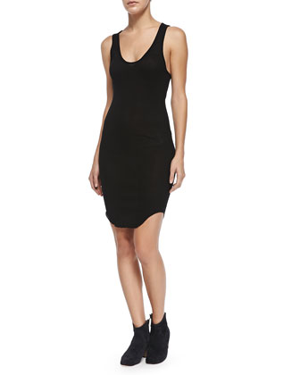 Lena Racerback Jersey Dress, Black
