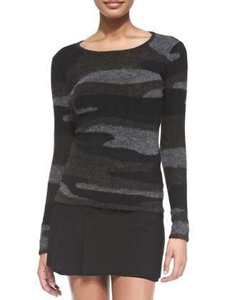 Vetra Camo Knit Sweater