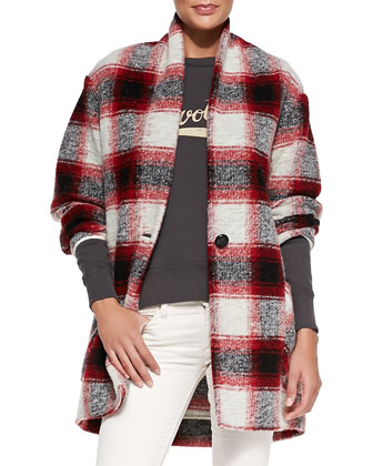 Gabrie Oversized Plaid Coat