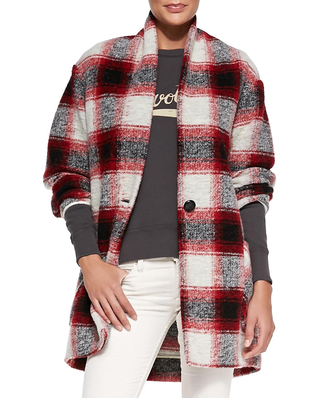 Isabel Marant Etoile Gabrie Oversized Plaid Coat