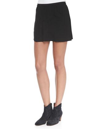 Anais Seam-Detail Miniskirt
