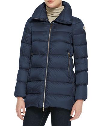 Long High-Collar Puffer Jacket