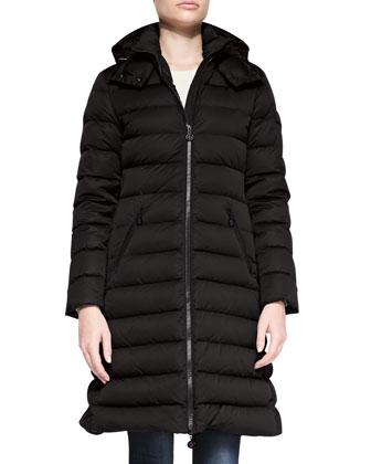 Matte Mid-Thigh Puffer Coat