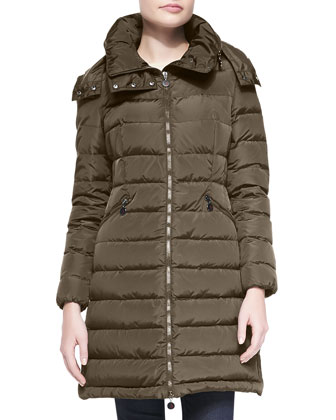 Quilted Mid-Thigh Puffer Coat