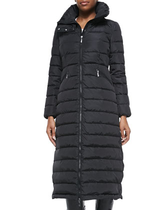Long Quilted Puffer Coat