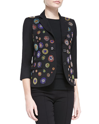 Crystal-Dot Blazer