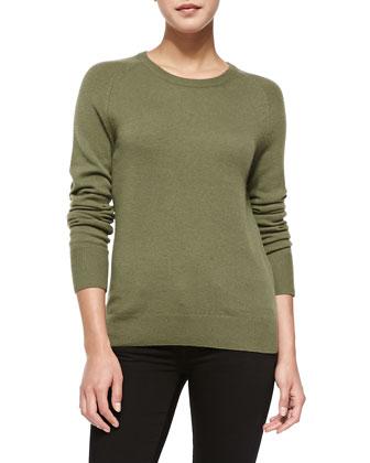 Sloane Cashmere Sweater, Green