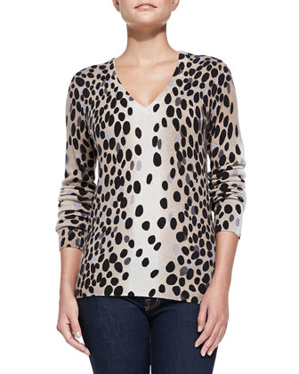 Cashmere Dalmation Dot Cecile Sweater