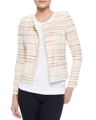 Glenn Striped Tweed Jacket