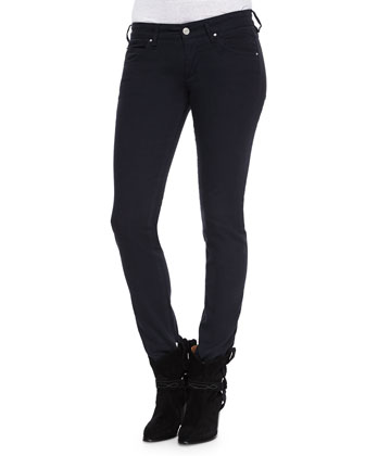 Rust Denim Skinny Jeans, Black