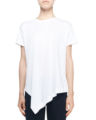 Short-Sleeve Jersey Tail Top