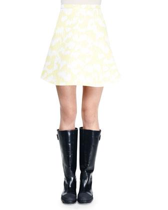 Printed Umbrella Mini Skirt
