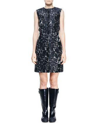 Marble Jacquard Zip City Dress